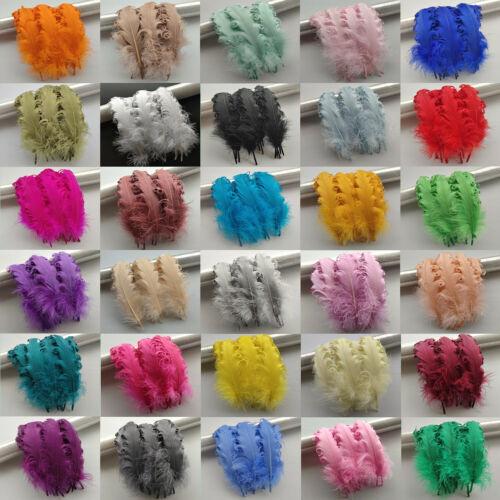 Mayorista 10-100 un 31 Colores 12-18 cm//5-7 pulgadas rodado suave plumas de ganso Opt