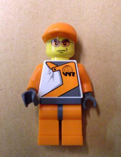 Lego World Racers Official 2 Figur Fahrer Racer orange Rennfahrer Figuren Neu