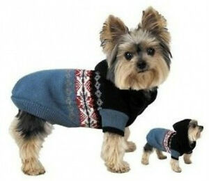 Casual-Canine-NORDIC-HOODED-Dog-Sweater-Coat-CLEARANCE-SALE