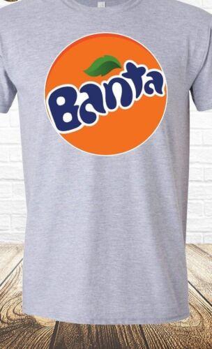 Banta T-shirt Parody Joke Mens Tee Banter Bantz Funny Fanta Lad Joke grey retro