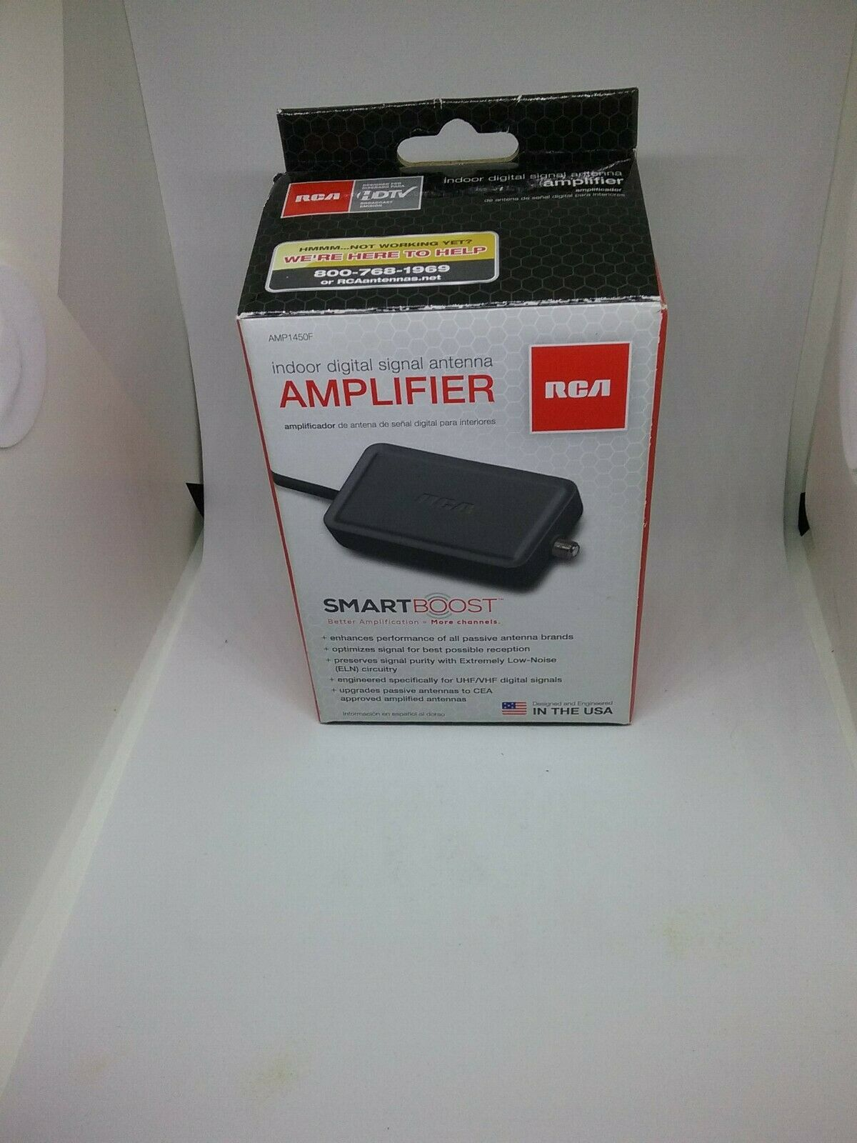 RCA Digital Amplifier for Indoor HDTV Antennas AMP1450Z