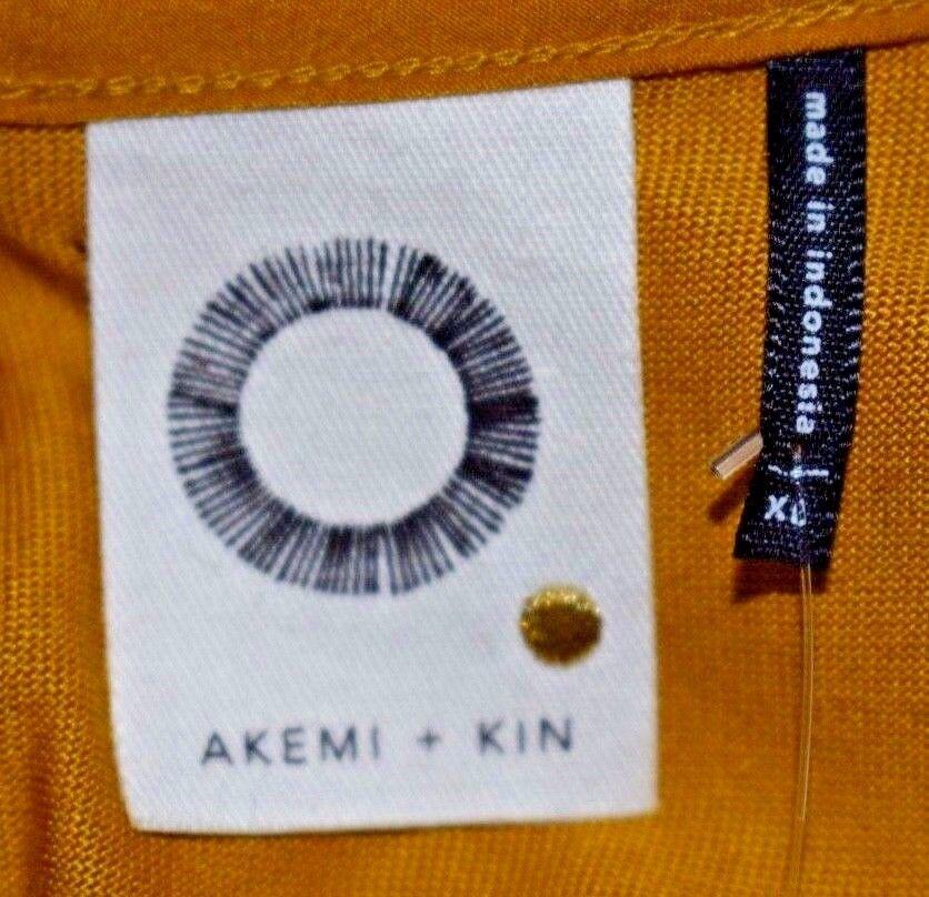 fdc7d86f11 ... New Akemi + + + Kin Anthropologie Longview Tunic Mustard Sleeveless  Side Slits Sz XL 14c86c ...