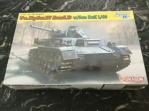 D W//5cm Kwk L//60 Dragon 6736-1//35 WWII Pzkpfw Iv Ausf Neu