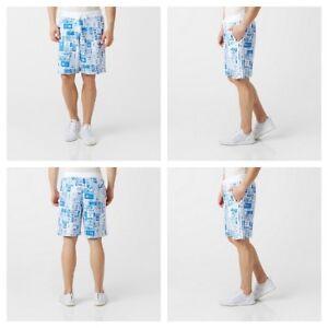 Adidas-Graphic-Allover-Print-Shorts-Fleece-Mens-Summer-Cotton-Surfing-Shorts