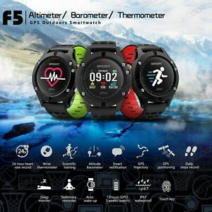 Reloj-deportivo-running-GPS-dorado-laufuhr-multi-sports-Fitness-Tracker-Bluetooth