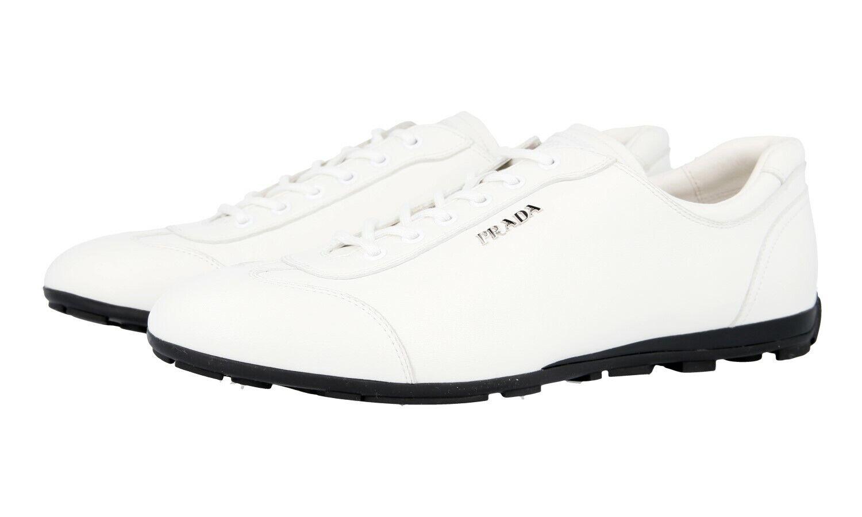 shoes PRADA LUSSO 3E4900 BIANCO NUOVE 41 41,5 UK 8