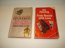 1965 YOU ONLY LIVE TWICE Ian Fleming FROM RUSSIA WITH LOVE Paperback James Bond
