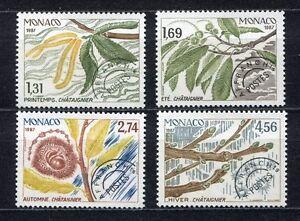 S3903-Monaco-1987-MNH-Precancels-4v-the-Four-Seasons