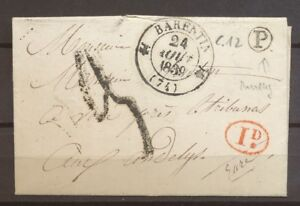 1839-Lettre-Taxe-2-de-confection-locale-CAD-T12-BARENTIN-BR-P-PAVILLY-X3535