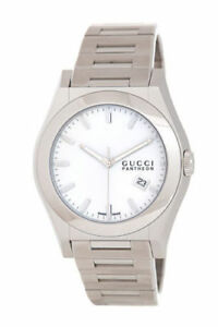 GUCCI Men's YA115210 Stainless Steel 115XL Pantheon Watch New in Box