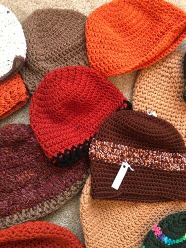 Huge Lot 23 Womens Hand Knit Beanie Slouch Hat Chu