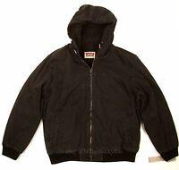 Levis Bomber Jacket Black Size X-large Heavy Duty Canvas / Sherpa Lined on sale