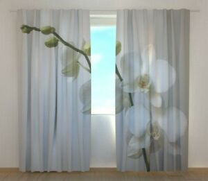 Window curtain Mottle Orchids Wellmira custom made 3D printed floral bedroom