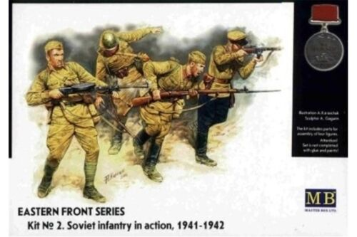 MasterBox MB3523 1//35 Eastern Front Series Kit No 2 Soviet Infantry in Action