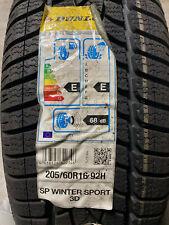 1 New 205 60 16 Dunlop Sp Winter Sport 3d Snow Tire Fits 20560r16