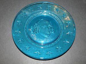 "8/"" Wheaton /""President Taft/"" blue presidential plate"