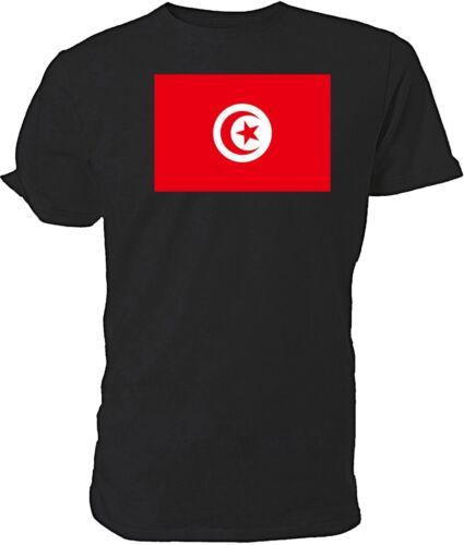 Choice of size /& colours. Tunisian Flag T shirt