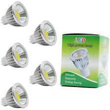 5x MR16 Sockel LED Lampen Spotlight Leuchtmittel,Kaltweiß 6000K,3W DC 12V 210LM