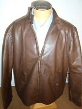 Polo Ralph Lauren Leather Jacket NWT Large $995 Dark Brown Campbell Plaid Lining
