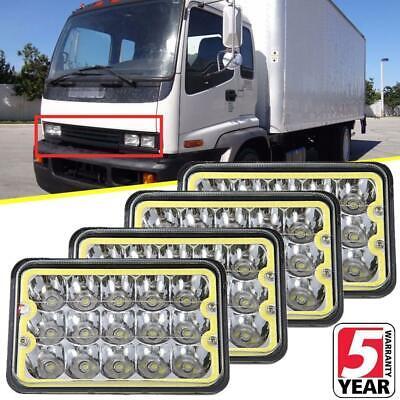 "4X 6/"" Hi//Lo Beam LED Headlight H4656 For Kenworth Peterbilt Freightliner Isuzu"