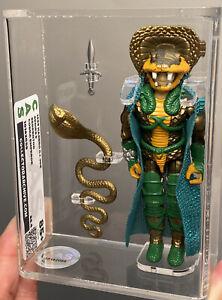 CAS-85-G-I-JOE-Hasbro-1986-Serpentor-100-Loose-Complete-Cobra-Emperor-NM