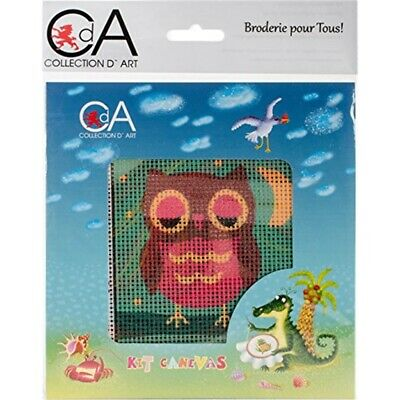 Collection D/'art Stamped Needlepoint Kit 15x15cm-owlet