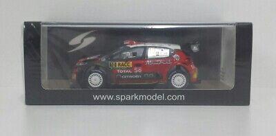 Contemplativo Spark 1/43 Modellino Auto Rally Citroen C3 Wrc Sebastien Loeb Catalunya 2018 New