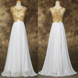 Long Evening Applique Dress Party Formal Gown Bridesmaid COCKTAIL Prom Dress