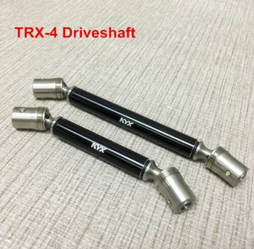Stainless Steel Main Driveshaft Red//Black for Traxxas TRX-4 Crawler USA Seller