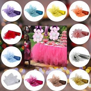 26-m-x-29-cm-Organza-Roll-Tissu-Mariage-Fete-Decoration-Chaise-Bows-Table-Runner-Sash