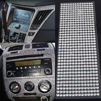 504pc 6mm Silver Rhinestone Crystal Bling Decor Sticker for Auto Car Iphone DIY