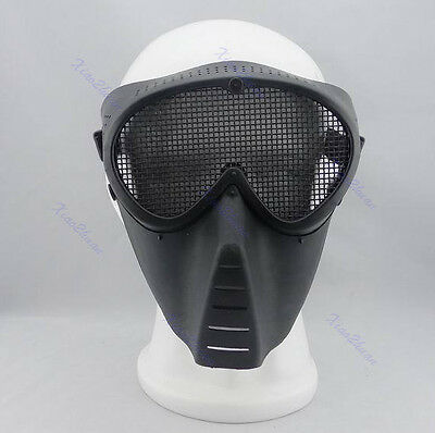 Paintball Airsoft Gear Protector Safety Full Face Eyes Nose Wear Guard Mesh Mask