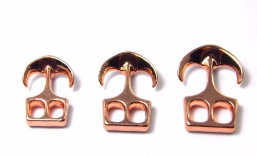 1//2//5//10//50x 3 tamaños ancla dispositivo de cierre-metal-Rosé Gold-aleación-zierverschluß