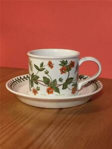 Portmerion-Pottery-Coffee-Tea-Cup-and-Saucer-Botanical-Garden-Scarlet-Pimpernel