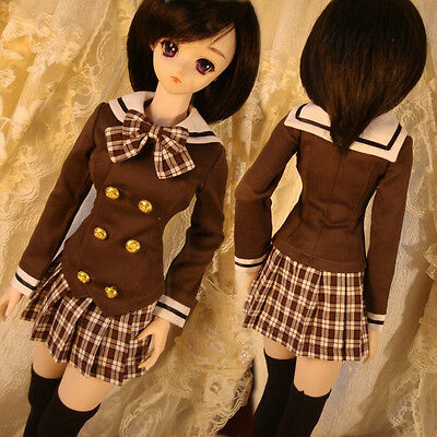 for BJD 1//3 MSD Doll NEW Bjd Clothes Forest Style Coffee Dress Suit 5pcs