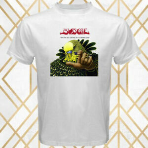 Budgie-You-039-re-All-Living-In-Cuckooland-Album-Men-039-s-White-T-Shirt-Size-S-3XL
