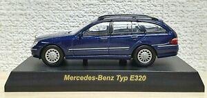 1-64-Kyosho-MERCEDES-BENZ-TYPE-E320-WAGON-BLUE-diecast-car-model