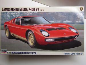 Hasegawa 1 24 Scale Lamborghini Miura P400 Sv 1971 Model Kit New
