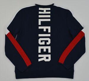 NWT-Men-039-s-Tommy-Hilfiger-Crew-Neck-Pullover-Sweater-Sweatshirt-w-Pocket