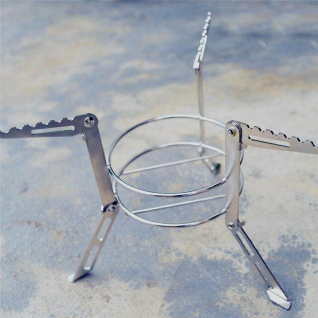 Foldable Alcohol Burner Stove Stand Rack Bracket Support Camp Picnic Cooking kit