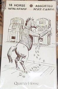 VINTAGE Sam Savitt HORSE CARTOON POSTCARDS - Best Offer