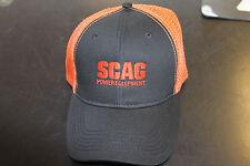 SCAG BLACK/ORANGE MESH BACK HAT PART NUMBER 38-00