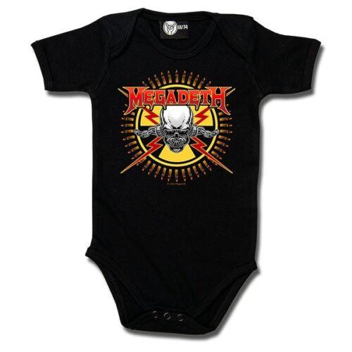 Chaleco de Banda de bebé con licencia Megadeth alternativa Goth Rock Punk Metal Regalo