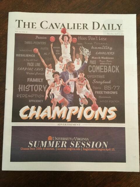 2019 Virginia Cavaliers Basketball National Champions Cavalier Daily Newspaper