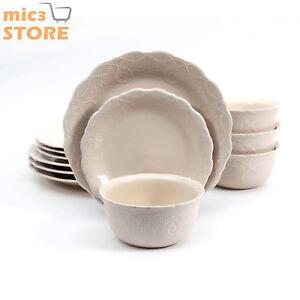 Image is loading 12-Piece-Dinnerware-Set-The-Pioneer-Woman-Cowgirl-  sc 1 st  eBay & 12-Piece Dinnerware Set The Pioneer Woman Cowgirl Lace Vintage ...