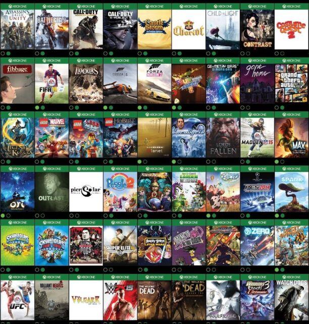 Xbox one jeux PAL rapide POSTAGE UK Vendeur