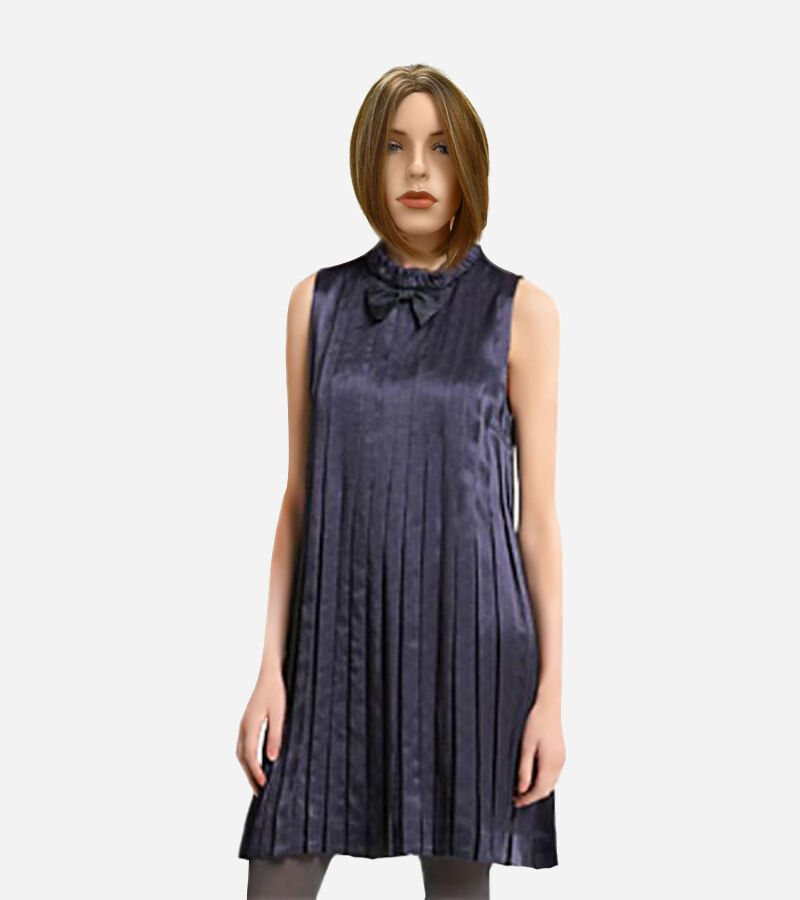Marc by Marc Jacobs Navy Pleated Print Sateen Emily Emily Emily Dress 9f7991