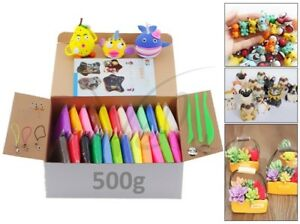 Oven-Bake-Polymer-Clay-Block-Modelling-Moulding-Sculpey-Tool-500G-Set-24-Colour