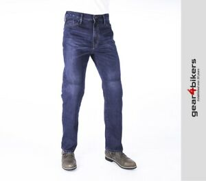 Oxford Original Approved AA Denim Blue Straight Armoured Jean Motorcycle Pant