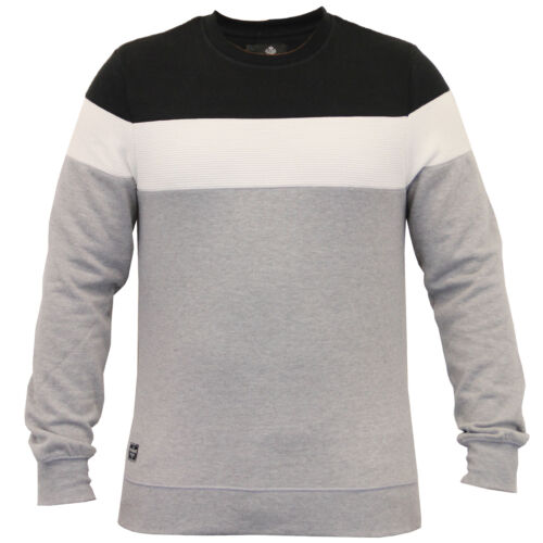 mens sweatshirt Threadbare pullover top block pattern fleece lined winter new